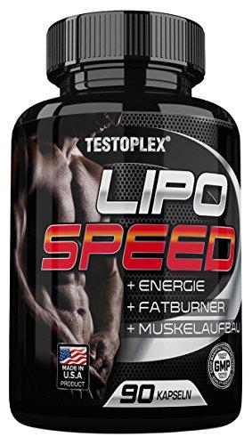 Testoplex Lipo Speed von Ihr Fatburner mit 10 wirkungsvollen Rohstoffen, 1er Pack (1 x 68 g)