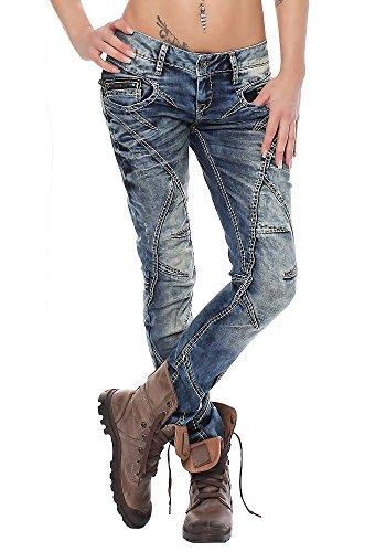 Cipo & Baxx Damen Jeans WD-175 Straight-Cut