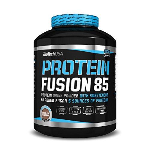 Protein Fusion 85 Vanille 2270 g Dose – Molkenproteinkonzentrat (WPC), Molkenproteinisolat (WPI), Milchproteinisolat, Kaseinprotein und Eiprotein – BiotechUSA
