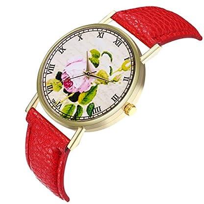 Sepbear-Unisexuhr-Analog-Quarz-Elegant-Casual-Einfach-Mode-Armbanduhr-mit-Blumen-Muster-Zifferblatt-und-Leder-Armband-Uhr