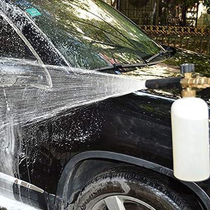 Hochdruckreiniger-Pistole-Auto-Reinigungspistole-mit-5-Wasserdse-Spitze-1L-Schnee-Schaum-Lanze-Flaschenkit-fr-Auto-Boden-Deck-Fenster-Reinigung-M22-metrische-Innengewinde-Schaumlanze-Schaumpistole