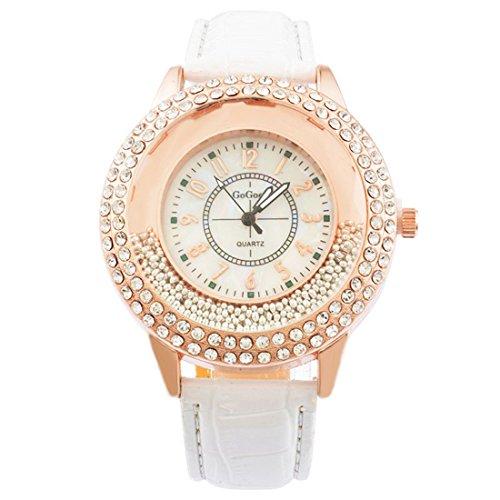 MJartoria-Damen-Armbanduhr-Quarz-Uhr-Modeschmuck-PU-Lederarmband-Mode-Design-mit-Strass-Wei
