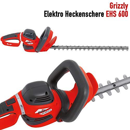 Grizzly-Elektro-Heckenschere-verstellbarer-Drehgriff-robustes-Metallgetriebe-mit-Schnellstop-Bremsfunktion