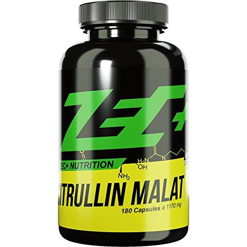 ZEC+ Kapseln L-CITRULLIN-MALAT | PRE WORKOUT Aminosäure | verbesserte Durchblutung der Muskulatur | N.O.-Vorstufe (Nitric Oxide/Stickstoffmonoxid) | steigert Pump und Leistungsfähigkeit | höchste Qualität | Made in Germany |1000 mg pro Kapsel