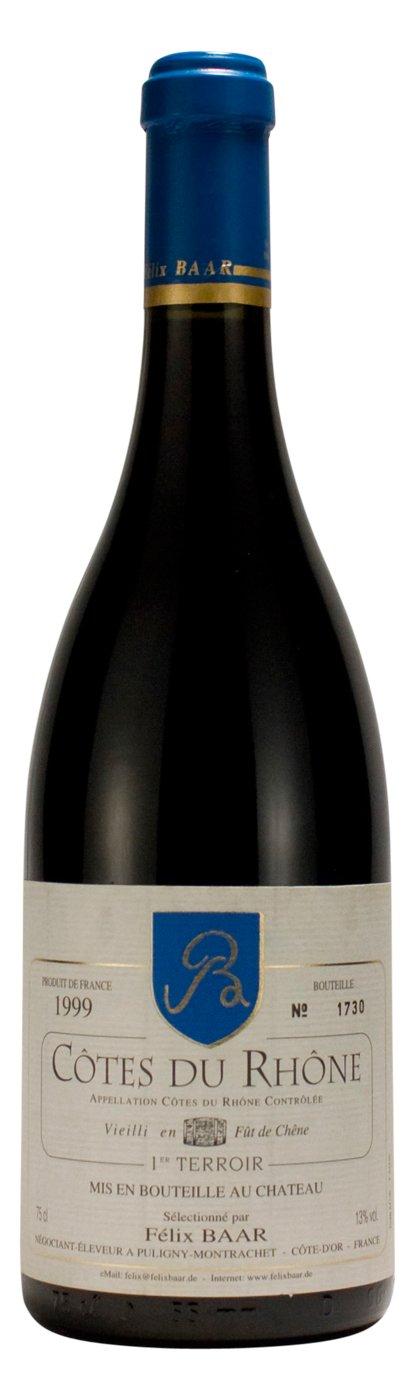 Weinraritt-Ctes-Du-Rhne-1er-Terroir-1999-Franzsischer-Rotwein-zum-Geburtstag-Jubilum-und-anderen-besonderen-Anlssen