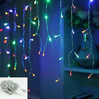 VINGO-200-400-600-LED-Eisregen-Lichterkette-Warm-WeissKalt-WeissRGBBlau-innen-und-auen-fr-Partys-Weihnachten-Deko-Hochzeit-als-Stimmungslicht