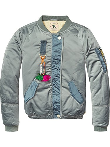 Scotch & Soda R´Belle Mädchen Jacke Teddy Satin Bomber Jacket
