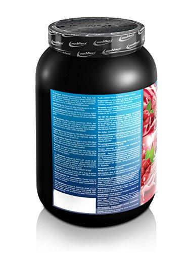 IronMaxx 100% Whey Protein / Proteinpulver auf Wasserbasis / Eiweißpulver für Proteinshake mit Himbeer Geschmack / 1 x 900 g Dose
