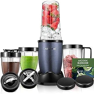 Aicook-Smoothie-Maker-Standmixer-Mixer-Smoothie-Mixer-mit-4-BPA-freien-Tritan-Trinkflasche-2-Edelstahlklingen-900W-Blau