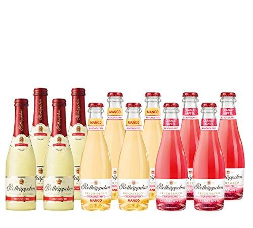 Mix-Set-Rotkppchen-12-a-200-ml-Flaschen-Fruchtsecco-Alkoholfrei-Rotkppchen-Unbeschwerter-GenuRotkppchen-Mango-un-Rotkppchen-Granatapfel