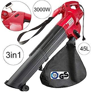 Arebos-3in1-Elektro-Laubsauger-3000-W-LaubblserSchultergurt-Und-RollenFangsack-45l-Schwarz-RotGS-Geprft-Von-Tv-Sd