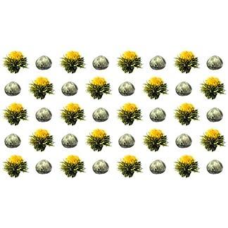 40-Stck-Sonderangebot-weier-Tee-Teeblumen-1-Sorte-TeerosenTeebltenblooming-teaErblhteeAufblhtee-aus-hochwertigem-Weitee-by-Feelino