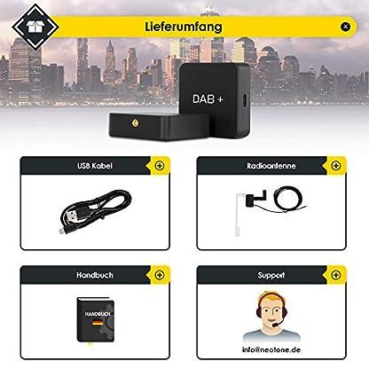 NEOTONE-DRB-100X-DAB-Empfnger-Digital-Audio-Broadcasting-DAB-Antenne-fr-Autoradio-USB-Anschluss-Deutsche-Bedienungsanleitung-3m-Kabellnge-Universell