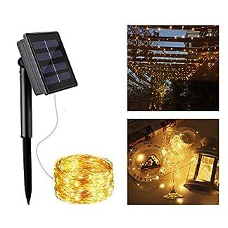 Abree-Solar-Lichterkette-Aussen-Warmweiss-10-m-100-LED-Lichterkette-Solar-Auen-Outdoor-Solar-Lichterkette-Kupferdraht-fr-Weihnachten-Partys-Garten-Hochzeiten-Dekoration