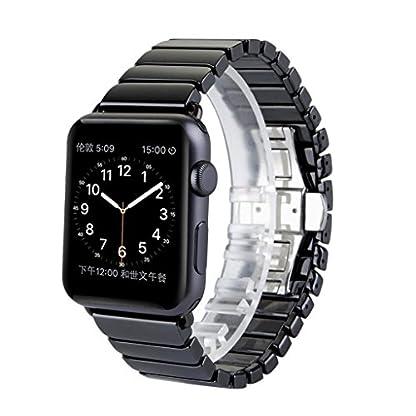 Sharplace-Keramik-Armband-fr-IWatch-Serie-1-2-3-Mode-Uhren-Ersatzband-Uhrenarmband-Gummiarmband