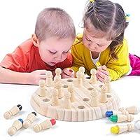 Hlzernes-Gedchtnis-Schach-Kinder-Holz-Memory-Match-Stick-hlzernes-Gedchtnis-Match-Schachspielspielzeug-der-Kinder-pdagogisches-Spielzeug-Reise-Satz-Schach-Brett-Wrfel-Satz