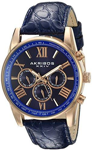 Akribos-XXIV-Herren-Armbanduhr-Man-AK864RGBU-Analog-Quarz-AK864RGBU
