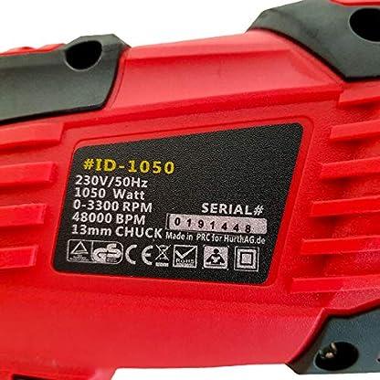 Bohrmaschine-HurthAG-Schlagbohrmaschine-1050w-3300-RPM-Hammer-und-Bohrer-2-in-1-Tiefenanschlag-und-Schnellspann-Bohrfutter-verstellbarer-Zusatzhandgriff