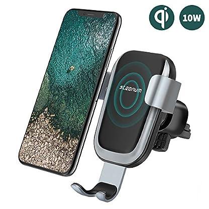 steanum-Qi-Handy-Halterung-fr-AutoInduktions-Autohalterung-Air-Vent-Phone-Holder-Kompatibel-fr-iPhone-XS-MaxXsXrX88PlusSamsung-Note-58-Galaxy-S9S8S7S6-Schwarz
