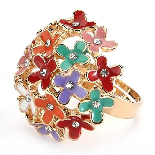 Ring Bouquet (Gold) Made mit Emaille und Zinn Legierung von Joe Cool