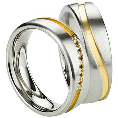 Freundschaftsringe – Partnerringe – Verlobungsringe – Trauringe – Hochzeitsringe – Eheringe in Edelstahl gelbgold und silber