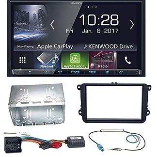 Kenwood-DMX-7017BTS-Bluetooth-Carplay-Android-Auto-USB-MP3-Autoradio-Einbauset-fr-Golf-5-6-Passat-3C-CC-B7-Touran