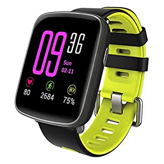 YAMAY-Smartwatch-Wasserdicht-IP68-Smart-Watch-Uhr-mit-Pulsmesser-Fitness-Tracker-Sport-Uhr-Fitness-Uhr-mit-SchrittzhlerSchlaf-MonitorStoppuhrCall-SMS-Benachrichtigung-Push-fr-Android-und-iOS