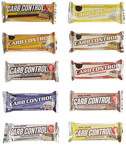 Body Attack Carb Control Protein Riegel Mix Box 15x100g