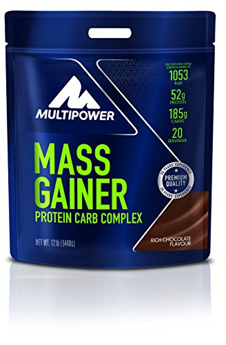Multipower Mass Gainer, Rich Chocolate, 5.44 kg