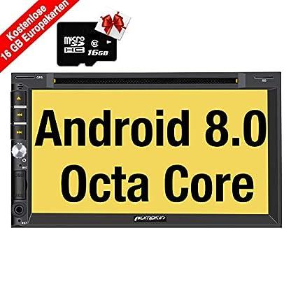Pumpkin-Android-80-Autoradio-Radio-mit-GPS-Navi-Europakarten-2019-Untersttzt-Bluetooth-DAB-WLAN-4G-USB-CD-DVD-Android-Auto-MicroSD-2-Din-7-Zoll-Bildschirm-Universal