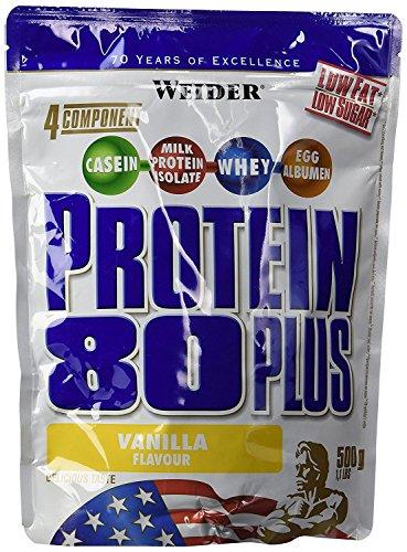 Weider, 80 Plus Protein, Vanille, 1er Pack (1x 500g)