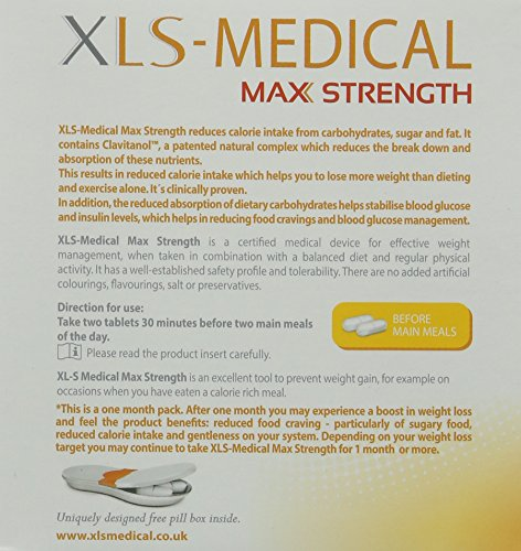 XLS Medical Max Strength Diet Pills for Weight Loss – Pack of 120 by XLS Medical