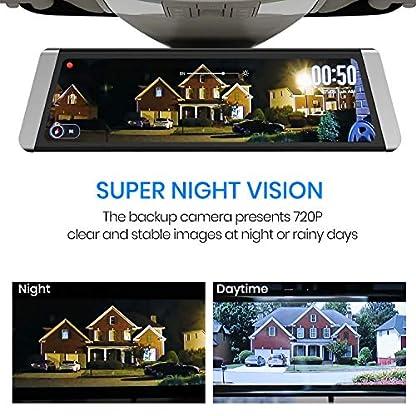 AUTO-VOX-X1-DashCam-Spiegel-mit-AHD-Backup-Kamera-Kit-Streaming-Media-988-ZollFull-TouchScreen-AutoKamera-1296P-FHD-Frontkamera-und-720P-Rckfahrkamera-mit-Crystal-BildqualittWDR-LDWS-GPS-Modus