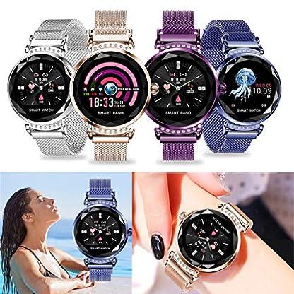 Hukz-Lady-Smart-WatchH2-Valentinstag-Geschenk-Frauen-Blutdruck-Sport-Smart-Armband-Uhr-SchrittzhlerIntelligente-Uhr