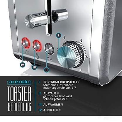 Arendo-Automatik-Toaster-Langschlitz-4-Scheiben-Defrost-Funktion-wrmeisolierendes-Gehuse-Abnehmbarer-Brtchenaufsatz-1500W-herausziehbare-Krmelschublade-Arendo-DESAYUNO