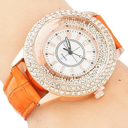 RainBabe-Frauen-Armbanduhr-Quicksand-Perlen-Strass-Lederband-Quarz-Uhr