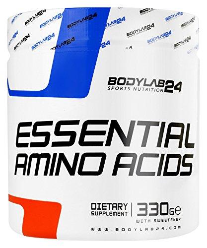 Bodylab24 Essential Amino Acids, 8 essentielle Aminosäuren Pulver zur Regeneration und Muskelaufbau, Premium Qualität, Zitrone, 330 g
