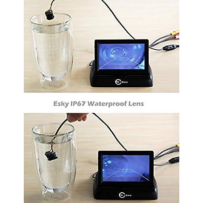 Esky-Auto-43-Faltbarer-Farb-TFT-LCD-Monitor-Nachtsicht-mit-135-LED-IR-Wasserdicht-IP67-Rckfahrkamera-Frontkamera-9-16V-Positivbild-Spiegelbild-Einparkhilfe-Rckfahrsystem-Set