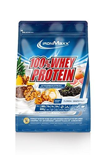 IronMaxx 100% Whey Protein / Wasserlösliches Whey Eiweißpulver für Proteinshake / Proteinpulver mit Florida Grapefruit Geschmack / 1 x 900 g Beutel