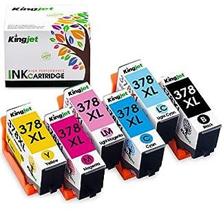 Kingjet-Mehrfachpackung-Tonerkartuschen-kompatibel-mit-Epson-378LX-mit-Chips-fr-Epson-Expression-Photo-XP-8500-XP-8505-XP-15000