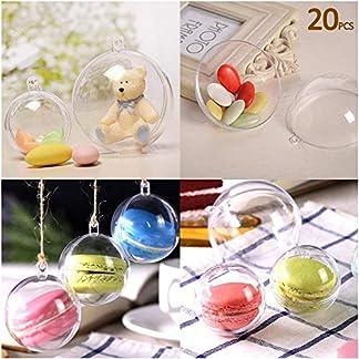20-x-CHRISTBAUMKUGELN-Dekorationen-Rund-Klar-Glas-befllbare-Kunststoff-Craft-Balls-Ornaments