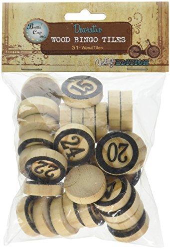 BCI-Crafts-retten-Holz-Bingo-Fliesen-1-30Pkg-andere-mehrfarbig