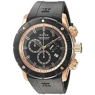 Edox-CO-1-Herren-Armbanduhr-45mm-Armband-Kautschuk-Schwarz-Gehuse-Edelstahl-Schweizer-Quarz-10221-37R-NIR