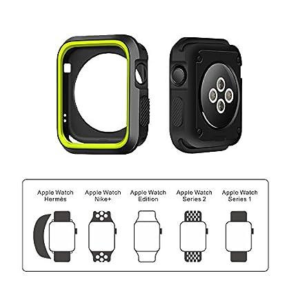 LEEHUR-Apple-Watch-ArmbandSerie-123-Sport-Armbanduhr-Silikonarmband-Ersatzarmband-Armband-fr-Apple-iWatchApple-Uhr-Nike