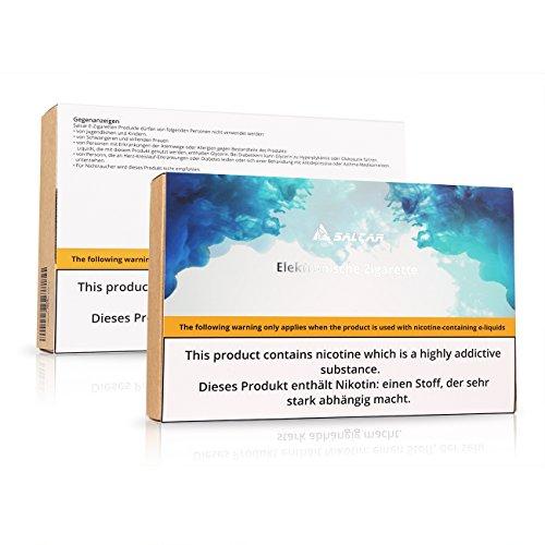 Salcar E Zigarette/ E Shisha Starterset, Rocket 50 Mod Kit, 50W/2200mah/0.5 Ohm/2.0ml    50W Mod Box mit integriertem 18650 Akku 2200mAh + 2.0ml Top Refill Verdampfer mit Luftdurchflusssystem + 0.5Ohm Integriert BVC Verdampferköpfe + 0.3 Ohm Extra Coil + 5 * 10ml E liquid, 0,0mg Nikotin, Schwarz