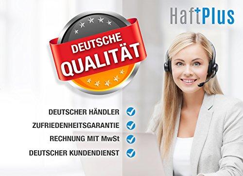 HAFTPLUS Filzgleiter Selbstklebend 18 Stück / Filzgleiter Schwarz / Filzgleiter für Stühle / Ø 28mm / Kratzschutz Stuhl Möbel