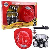 Rolanli-Feuerwehr-Spielzeug-4-Stcke-Feuerwehrset-Zubehrs-Rollenspiel-Spielzeug-fr-Kinder