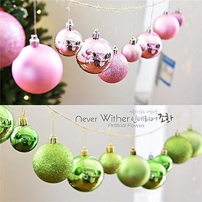 UBabamama-Weihnachtsbaum-glnzende-Kugeln-Dekoration-Kugeln-Dekoration-64-cm-24-Stck