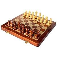 Stonkraft-handgefertigtes-Hochwertiges-Holz-Schachspiel-26-x-26-cm-magnetische-Schachkassette-aus-Rosenholz