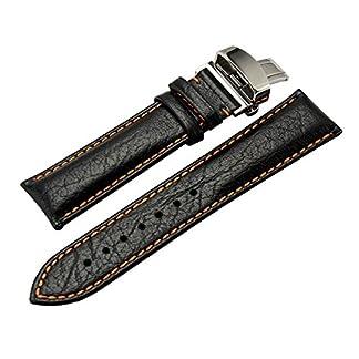 AUTULET-Herren-Leder-Uhrenarmband-Optionale-Farbe-20mm-22mm